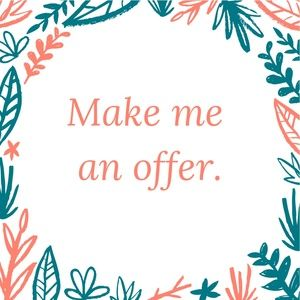 All reasonable offers are welcome!